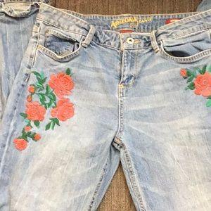 Pants - Rose Embossed Boyfriend Jeans